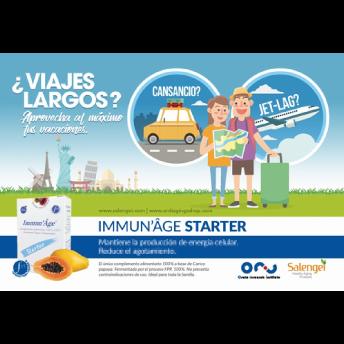 スペインの主要空港でImmun' ÂgeのサマーバケーションPR開始!
